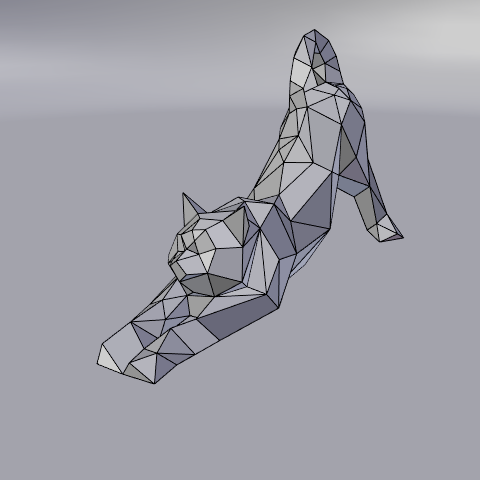 02.png Download free STL file Stretching cat low poly • Design to 3D print, Vincent6m