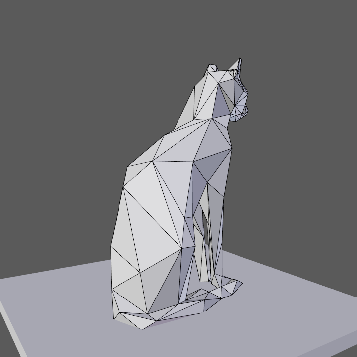 0006.png Download free OBJ file Low poly sitting cat • 3D printer object, Vincent6m