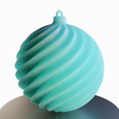 3D printer files Twisted' Christmas ball, Vincent6m