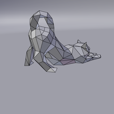 08.png Download free STL file Stretching cat low poly • Design to 3D print, Vincent6m