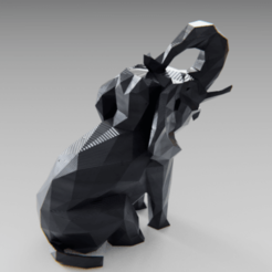 Fichier impression 3D Low poly elephant, Vincent6m