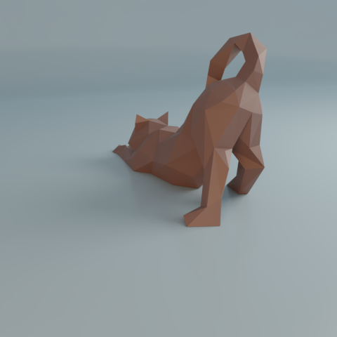 09.png Download free STL file Stretching cat low poly • Design to 3D print, Vincent6m