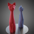 02.png Download STL file Cat cartoon style • 3D printable model, Vincent6m