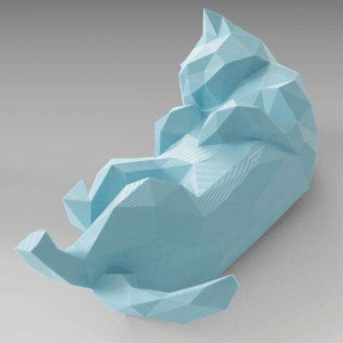 Modelos 3D para imprimir Gato durmiente Lowpoly, Vincent6m