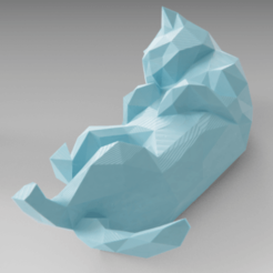 Objet 3D Lowpoly sleeping cat, Vincent6m