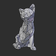 08.png Download STL file Low poly sitting cat • 3D printer object, Vincent6m