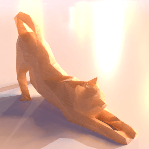 05.png Download free STL file Stretching cat low poly • Design to 3D print, Vincent6m