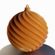 3d printer files Twisted' Christmas ball, Vincent6m