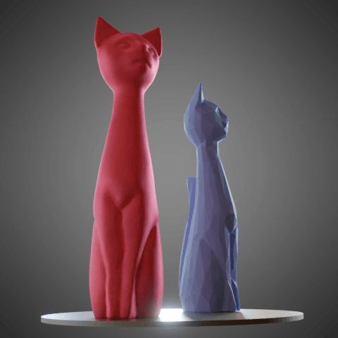 05.png Download STL file Cat cartoon style • 3D printable model, Vincent6m