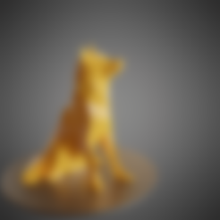 Plan imprimante 3D Dog Husky low poly, Vincent6m