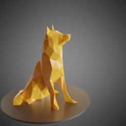 Dog Husky low poly 3D printer file, Vincent6m