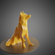 Plan imprimante 3D Dog Husky low poly, Vincent6m