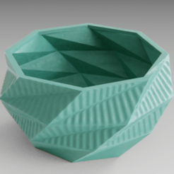 Download free 3D printing files Low poly planter, Vincent6m