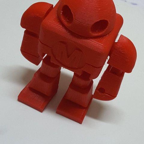 Free 3d model Maker Faire Robot Action Figure (Single file), 3DTech