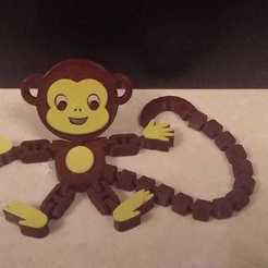 Download free STL file Flexi Articulated Monkey • 3D printable template, 3DTech
