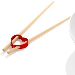 Download free 3D printer templates Chinese Chopsticks - Valentine's Day, clem-c2