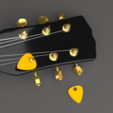 Download free 3D printing templates Mediator - Guitar, clem-c2
