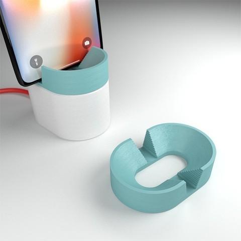 doriane-10.jpg Download free STL file phone holder - candice • 3D printable design, clem-c2