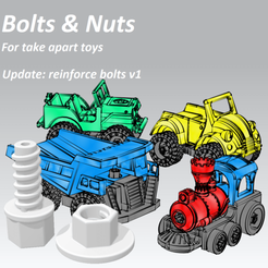 Free 3D print files Take Apart - Bolts & Nuts, edge