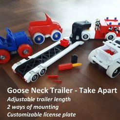 Download 3D printing designs Goose Neck Trailer - Take Apart, edge