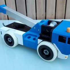 20200408_125521.jpg Download STL file Tow Truck - Take Apart (RELOADED) • 3D print template, edge