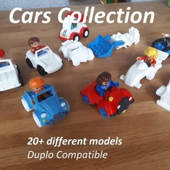 DuploCarsCollection20plus.jpg Download STL file Car collection - Duplo compatible • 3D printer template, edge