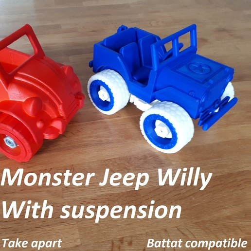 Download STL Monster Jeep Willy - Take Apart, edge