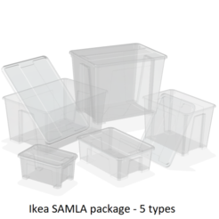 Download 3D printer model SAMLA BOX AND COVER PACKAGE (5 BOXES), edge
