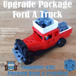 ford_a_upgrade_truck.jpg Download STL file FORD-A Truck Upgrade PACKAGE • 3D print template, edge