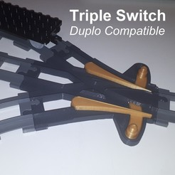 triple_switch.jpg Download STL file Triple Switch - Duplo Compatible • 3D printable model, edge