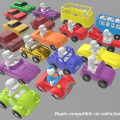 STL file Duplo compatible cars collection, edge