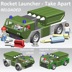 Download 3D printer templates Rocket Launcher - Take Apart (RELOADED), edge