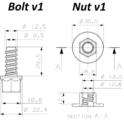 dimensions.png Download free STL file Take Apart - Bolts & Nuts • 3D printable object, edge