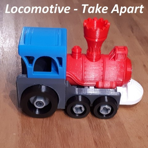 Download 3D printing files Take Apart Locomotive, edge