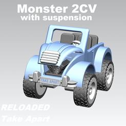 2CV_03_4txt.png Download STL file Monster 2CV - Take Apart Toy (RELOADED) • 3D print template, edge
