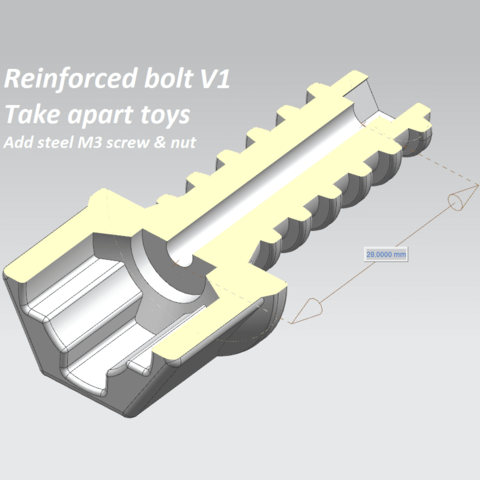 reinforced_bolt_v1-sq.png Download free STL file Take Apart - Bolts & Nuts • 3D printable object, edge