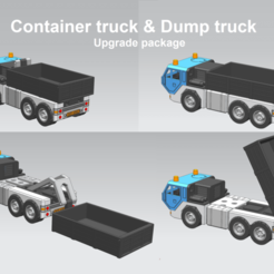 truck_package.png Download STL file upgrade package to a container or dumper truck • 3D printing model, edge