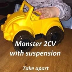 Download 3D printer designs Monster 2CV - Take Apart Toy, edge