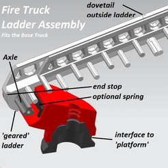 Download 3D printing designs Ladder assembly for base truck - Take Apart, edge