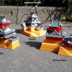 Descargar archivo STL gratis Castillo de Gifu • Objeto para imprimir en 3D, edge
