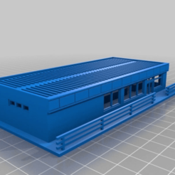 0f5fa0bd271dab4b3ad95eb1791038e8.png Download STL file Roadside store (KwikE Mart/711 etc) N scale • Template to 3D print, nzfreemo