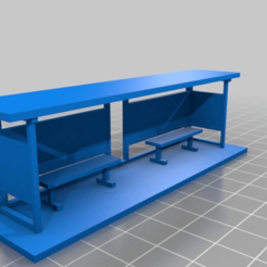 Download free 3D printer designs Bus Stop/Shelter HO scale, nzfreemo
