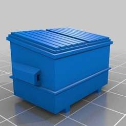 bcd6d32abd9ce3c11595f67006a4d0c9_preview_featured.jpg Download STL file HO scale Dumpster • 3D printing design, nzfreemo