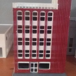 N scale Modern City Apartment Building 3D model, nzfreemo