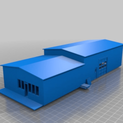 b2afa8eb0e93c013ede7cfc60f2d3418.png Download STL file Warehouse with Retail Showroom/Offices • 3D printable design, nzfreemo
