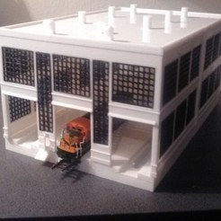 N scale Diesel Engine House 3D printer file, nzfreemo