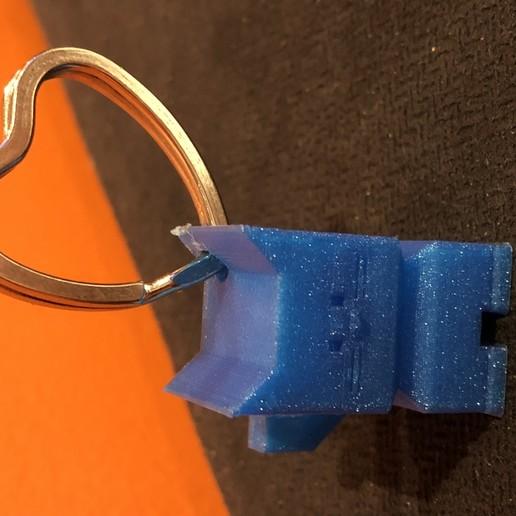 Télécharger objet 3D gratuit Cadeau de calibrage de l'imprimante Cali Cat KeyChain, GreyBeard3D