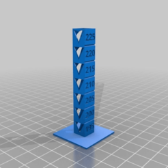 Download free STL file Temp Calibration Tower 195-225 • 3D printer object, GreyBeard3D