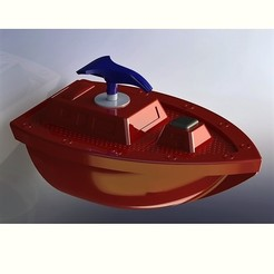 Free STL Bath boat with soap dispenser, jaazasja