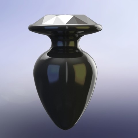 Download STL file Butt plug with cut diamond • 3D printer template, jaazasja
